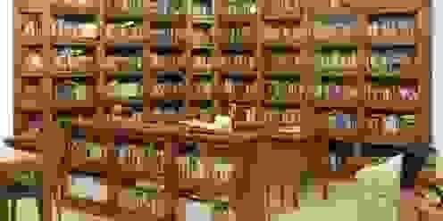 Grandes bibliotecas. Eme de Madera EstudioAlmacenamiento