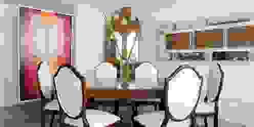 Pic & Deco Salas de jantar ecléticas Efeito de madeira