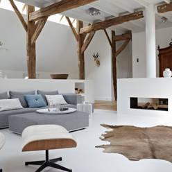Villa Borkeld:  Woonkamer door reitsema & partners architecten bna