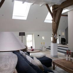 Woonkamer:  Woonkamer door Frank Loor Architect