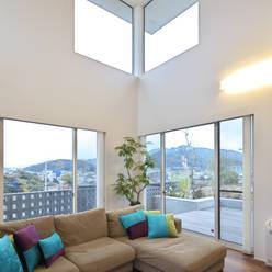 O  House: artect design - アルテクト デザインが手掛けたリビングです。
