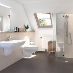 De praktische douchekamer:  Badkamer door wedi