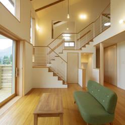 house in Ishikawauchi: とやま建築デザイン室が手掛けたリビングです。