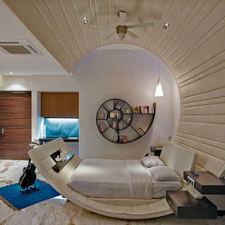 Nest - Private residence at Koregaon Park:  Bedroom by TAO Architecture Pvt. Ltd.