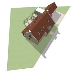 Vrijstaand woonhuis in landelijke omgeving:  Huizen door Bram Markerink Bouwkunst