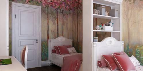 Kinderkamer door Бюро9 - Екатерина Ялалтынова