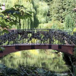 Garden Bridge Villi Zanini - Wrought Iron Art Giardino classico Ferro / Acciaio Nero