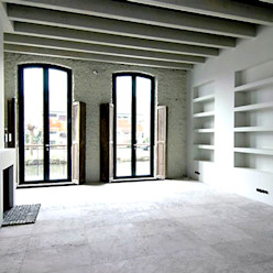 Loft in oude textielfabriek Archivice Architektenburo Industriële woonkamers