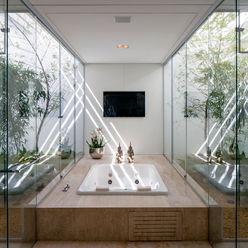 Aguirre Arquitetura Baños de estilo minimalista