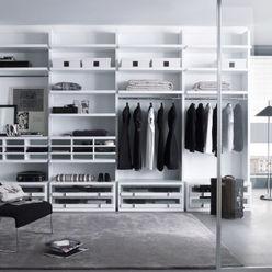 White walk in wardrobe Lamco Design LTD Dressing roomWardrobes & drawers