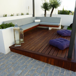 CHILL OUT en Elvas (Portugal) Ángel Méndez, Arquitectura y Paisajismo Balcones y terrazas de estilo minimalista