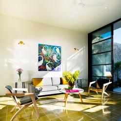 Casa FS55 Taller Estilo Arquitectura Salones modernos