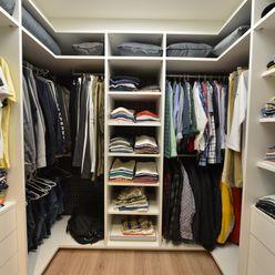 ANNA MAYA ARQUITETURA E ARTE Modern dressing room MDF White