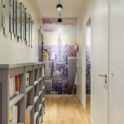 Le couloir d'entrée EXPRESSION ARCHITECTURE INTERIEUR Couloir, entrée, escaliersAccessoires & décorations