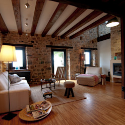 RUBIO · BILBAO ARQUITECTOS Country style living room