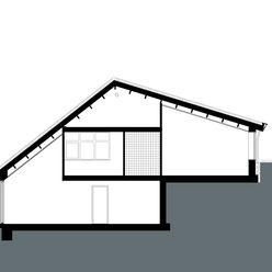 Doorsnede stripesarchitects Landelijke huizen