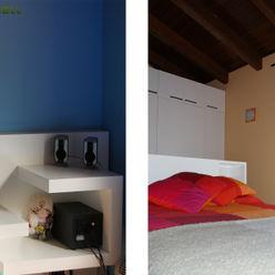 Cabezales y armarios de DM lacado RIBA MASSANELL S.L. Dormitorios infantiles mediterráneos Tablero DM