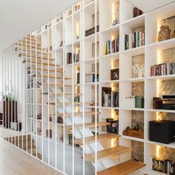Casa Cedofeita Floret Arquitectura Corredores, halls e escadas modernos