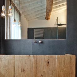 Nuovo progetto MIDE architetti Bagno in stile rustico