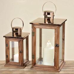 Laterne Faye Kupfer und Holz homify Balkon, Veranda & TerrasseBeleuchtung Holz