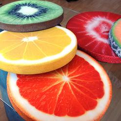 Obstkissen erdbeeruniversum Balkon, Veranda & TerrasseAccessoires und Dekoration Textil Orange