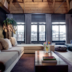 Canal Loft Amsterdam Ethnic Chic - Home Couture Moderne woonkamers