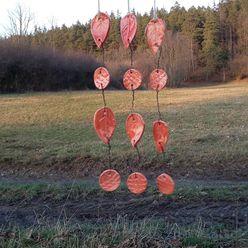 handgefertigtes Keramik Windspiel Klangspiel Keramik im Dorf Balkon, Veranda & TerrasseAccessoires und Dekoration Keramik Orange