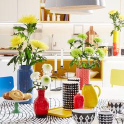 Verschiedene Farben der Chrysantheme im Trend Reconsider Space inszeniert Tollwasblumenmachen.de WohnzimmerAccessoires und Dekoration