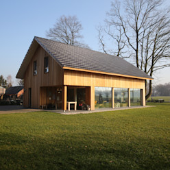 Moderne landelijke woning te Nijverdal Hoogsteder Architecten Scandinavische huizen Hout Hout