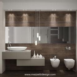 Mezzettidesign Minimalist style bathroom Ceramic Beige
