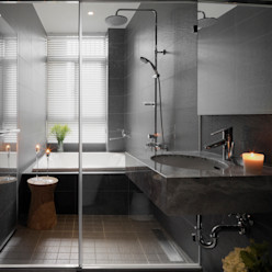 Freedom house 夏沐森山設計整合 現代浴室設計點子、靈感&圖片