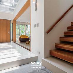 自然。隱逸 - 北歐風格 有容藝室內裝修設計有限公司 斯堪的納維亞風格的走廊,走廊和樓梯