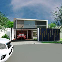 Cabaña Sr Rafael Meza Arq Hernando Fuentes Diseños Casas de estilo minimalista Concreto Blanco