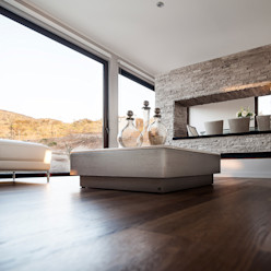 Casa Patio Bauer Arquitectos Livings de estilo moderno