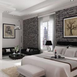 vista 1 A.BORNACELLI Habitaciones modernas Concreto Blanco