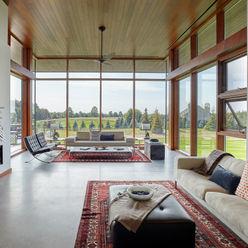 Trevor McIvor Architect Inc Modern Living Room
