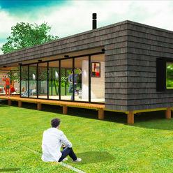 CASA MODULAR AOG Casas prefabricadas Derivados de madera Acabado en madera