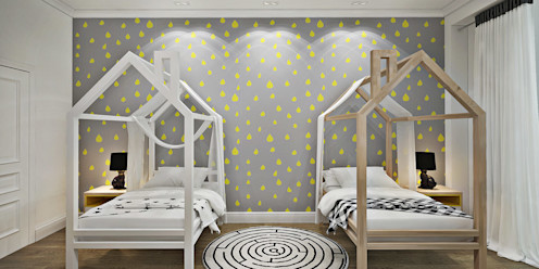 GM-interior Dormitorios infantiles de estilo escandinavo