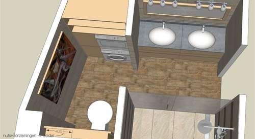 Badkamer ontwerp met chique industrieel tintje inrichting huis