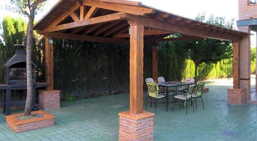 Celosia de madera para jardin celosas de madera en - Pergolas el bosque ...