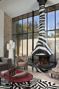 Cheminée Eva 992 Zebre by Paco Rabanne:  de style  par GROUPE SEGUIN DUTERIEZ