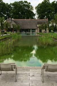 Landschappelijke tuin met Zwemvijver:   door Stam Hoveniers