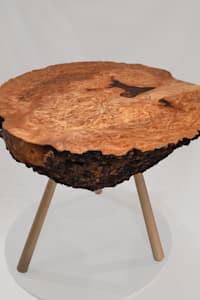 Burr Elm Coffee Table:   by Clachan Wood