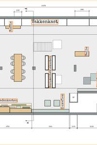 Grondplan - bovenaanzicht winkelpand:   door Burosannies