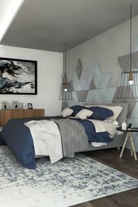 Panele Isos: styl , w kategorii Sypialnia zaprojektowany przez FLUFFO fabryka miękkich ścian