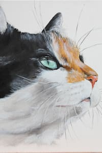 En souvenir de Pepette...:  de style  par Odile Laresche Artiste Peintre Animalier