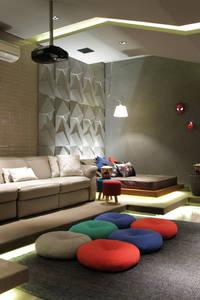 modern Media room by CM 2 CASARIN MONTEIRO ARQUITETURA & INTERIORES