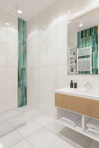 Lazurowa łazienka: styl , w kategorii  zaprojektowany przez ZAWICKA-ID Projektowanie wnętrz