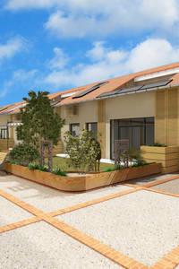vue des jardins et rue privative: Jardin de style de style Moderne par AeA - Architecture Eric Agro
