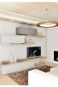 Mobile porta Tv in appoggio con panca Royal Oak : Soggiorno in stile in stile Moderno di House Design Arredamenti